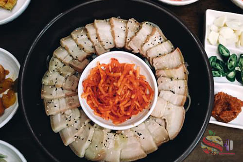 โพซัมจากเกาหลี 1 - Bossam 食谱 来自韩国的猪肉和